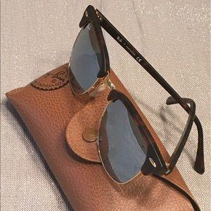 Ray-Ban Clubmaster Silver Flash Sunglasses